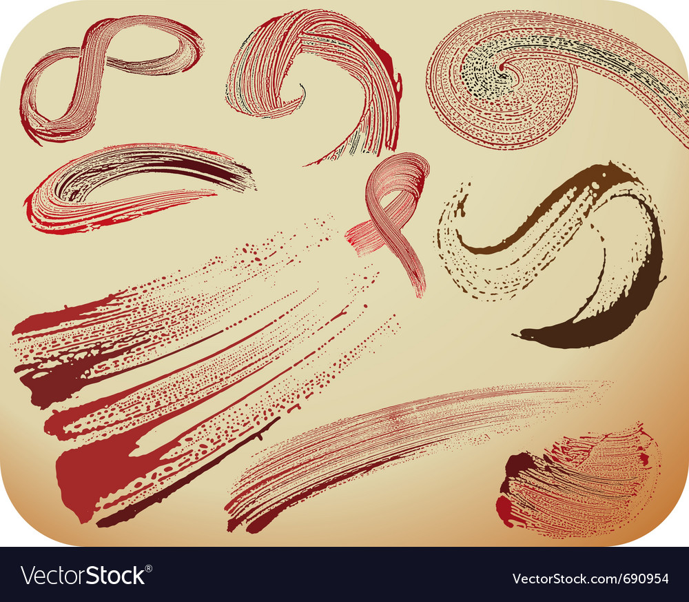 Blood stain set vector