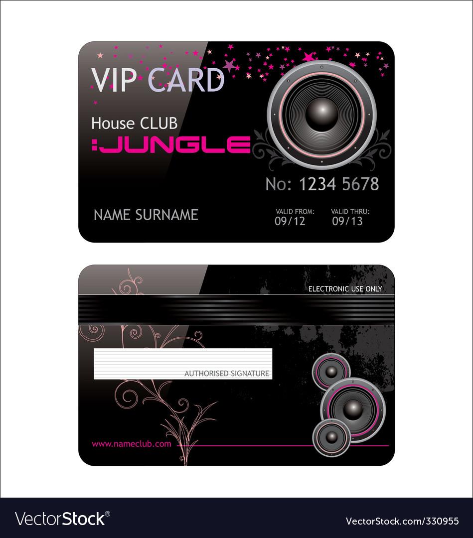 Vip club card vector