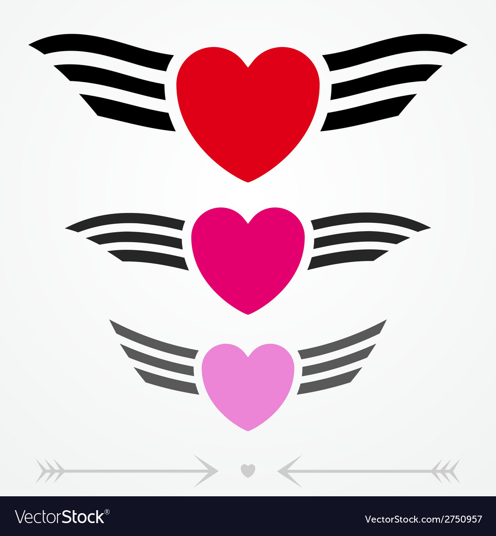 Simple graphic love emblems vector