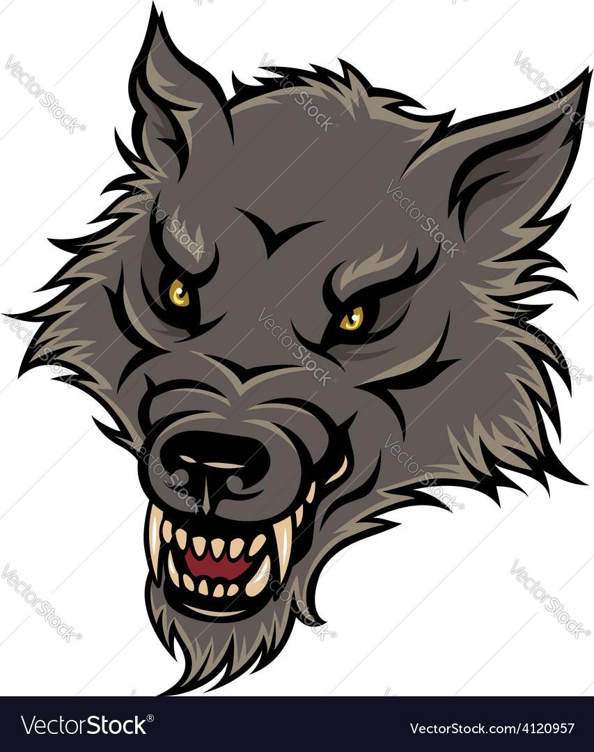 Werewolf color vector