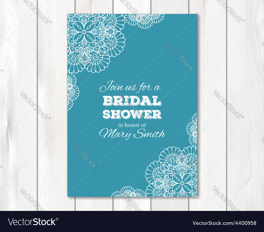 Bridal shower or wedding invitation card template vector