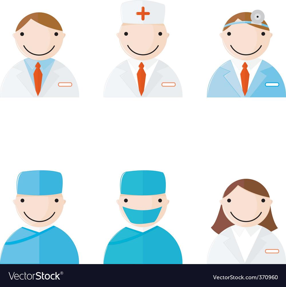 Medical professionals vector
