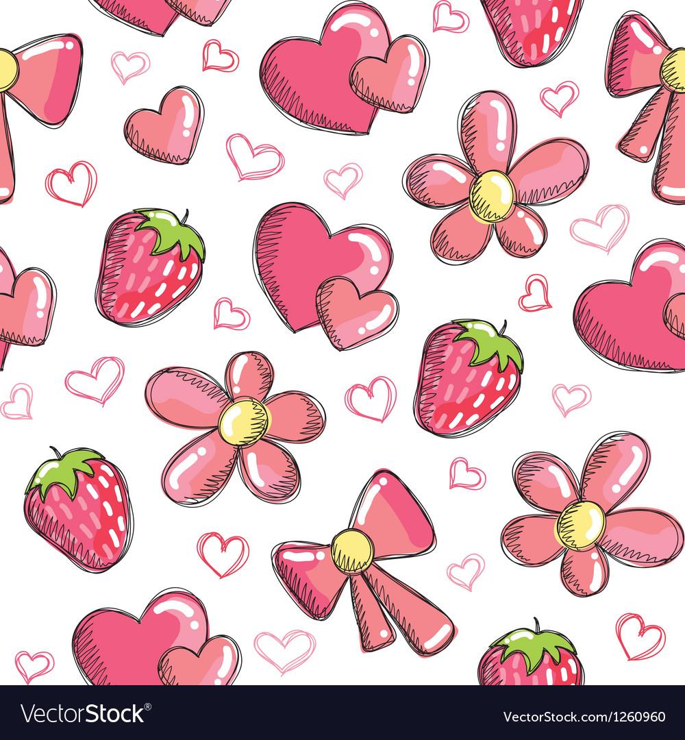 Romantic pattern vector