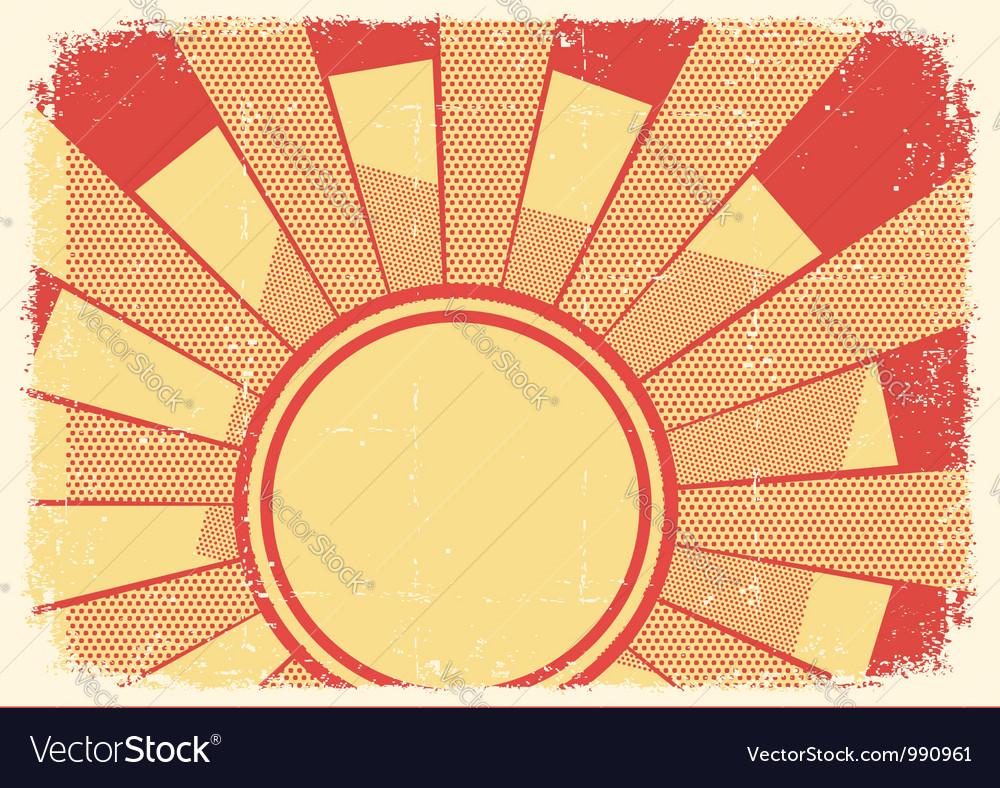 Cartoons grunge background with sunlight on grunge vector