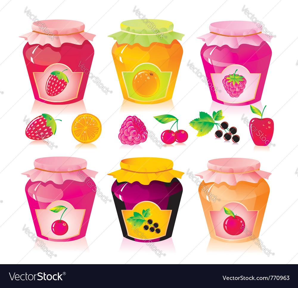 Berry jam vector