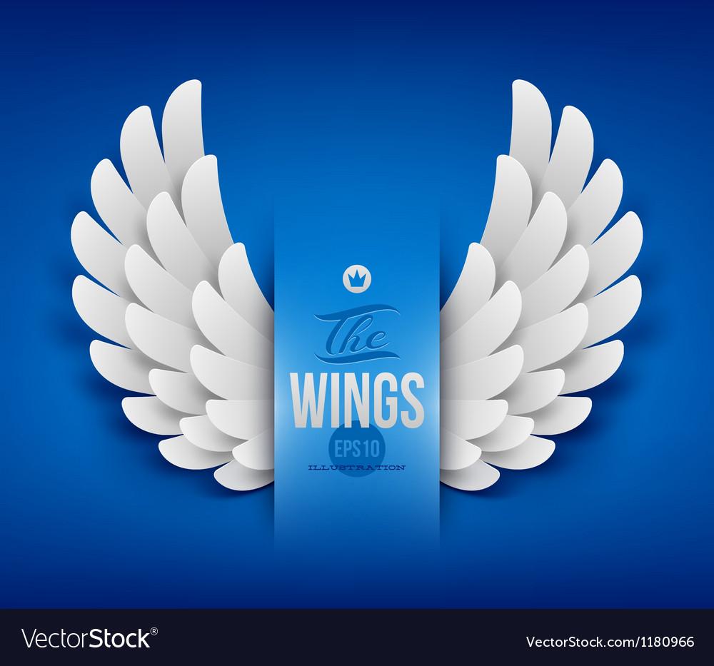 Artificial paper wings - vector