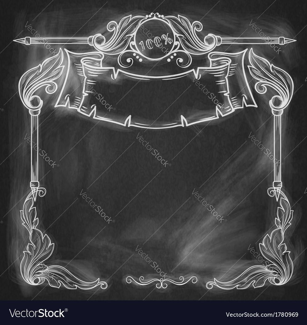 Vintage bannerbackground chalkboard vector