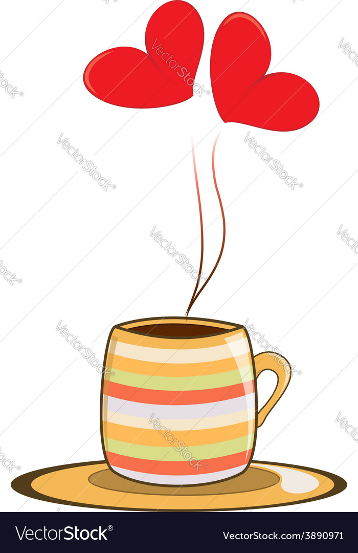 Love cup vector