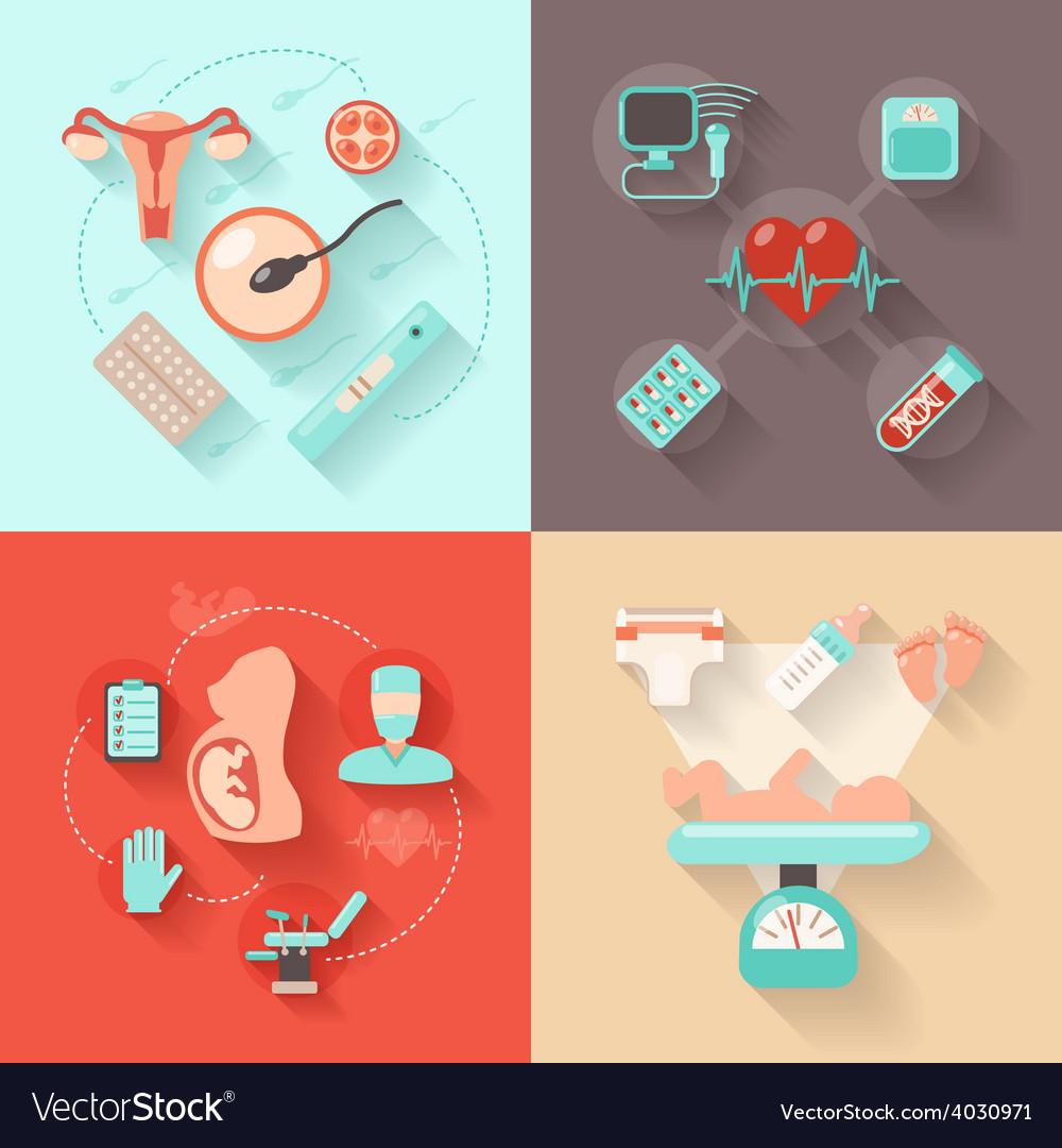 Pregnancy design concept vector