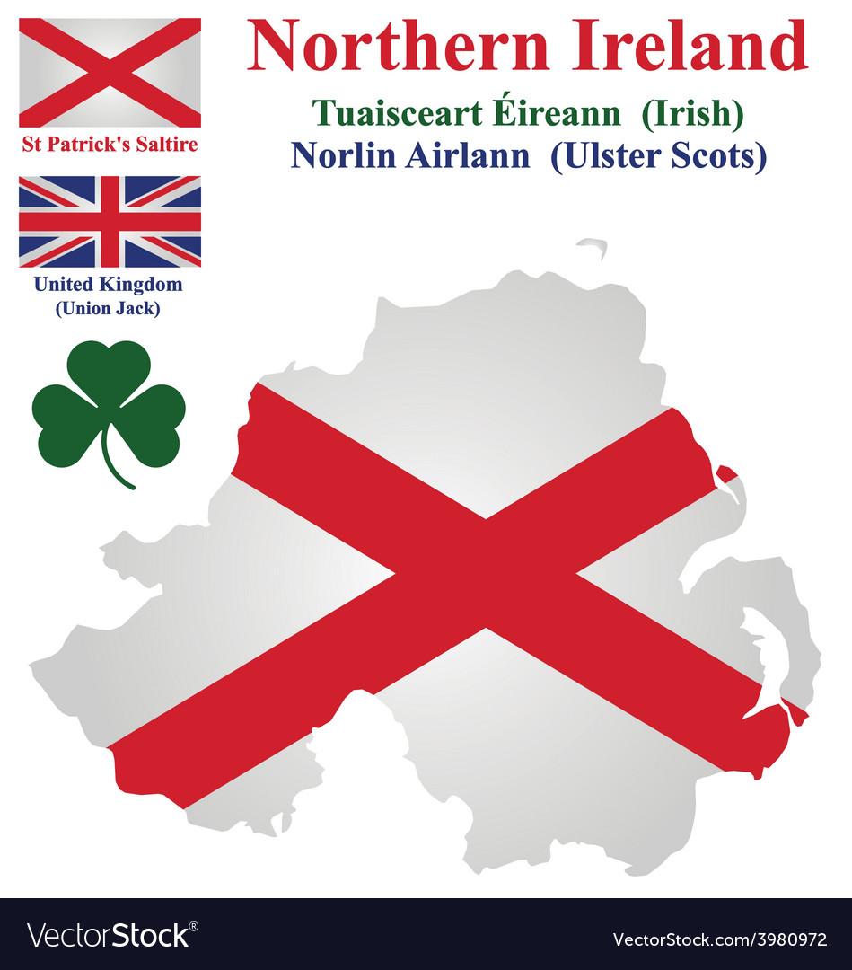 Northern ireland flag vector