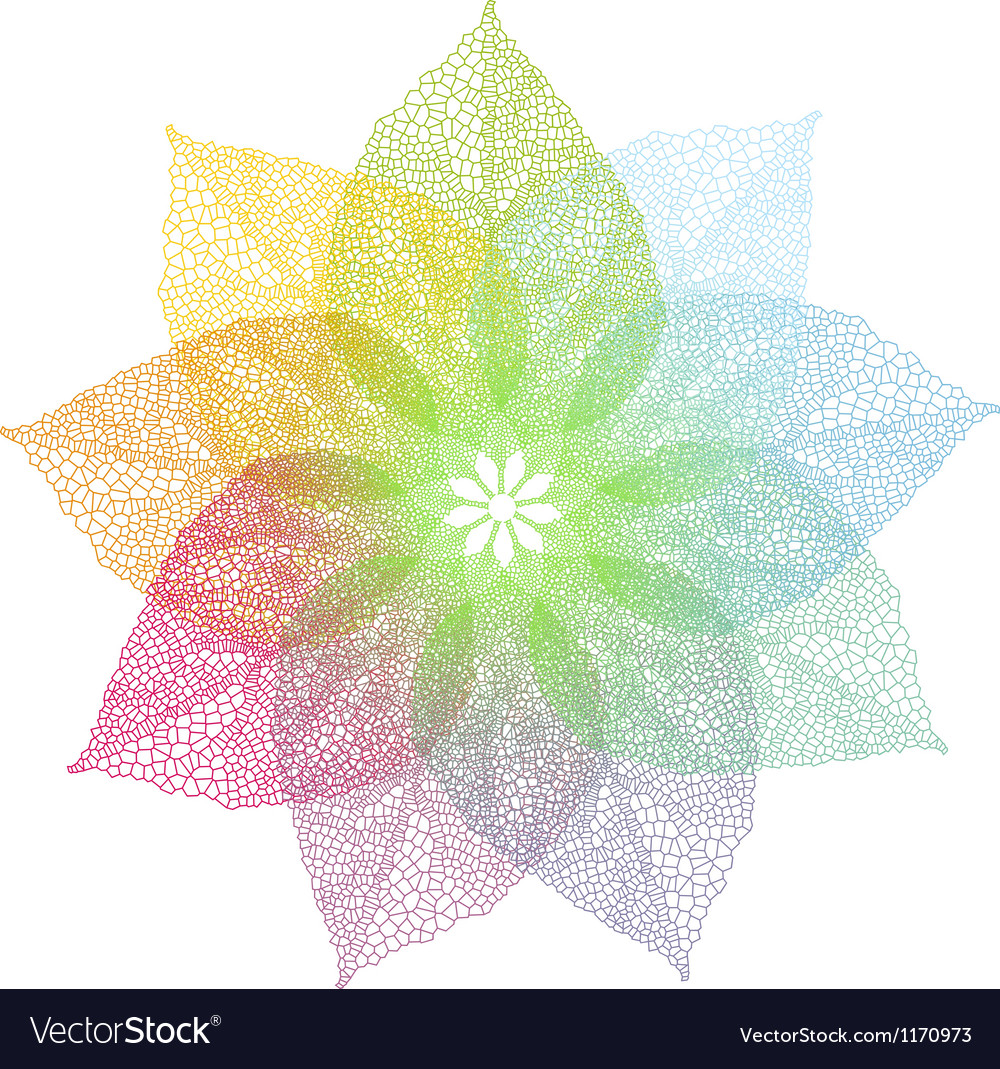 Colorful spring leaves flower vector