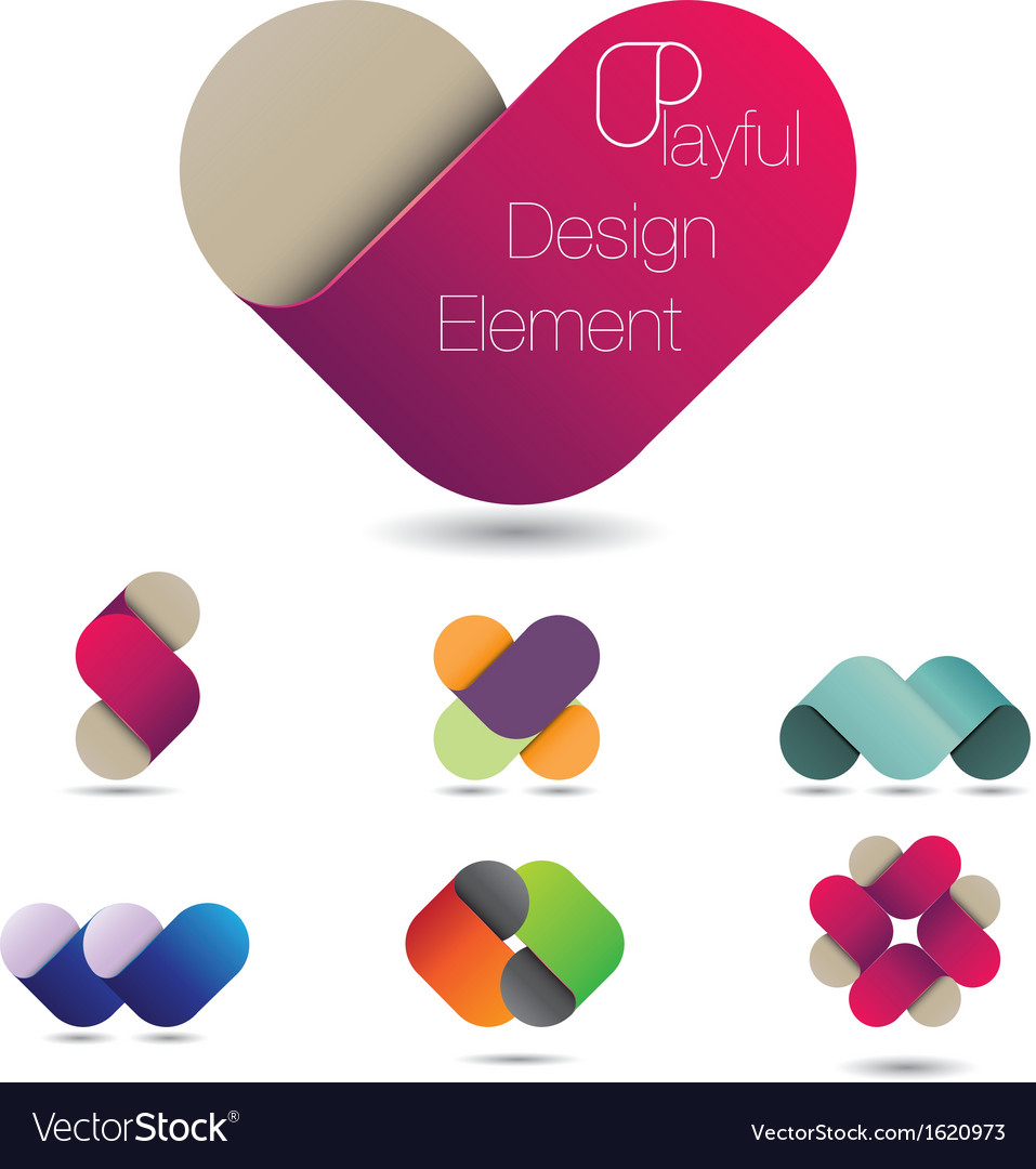 Playful design element vector