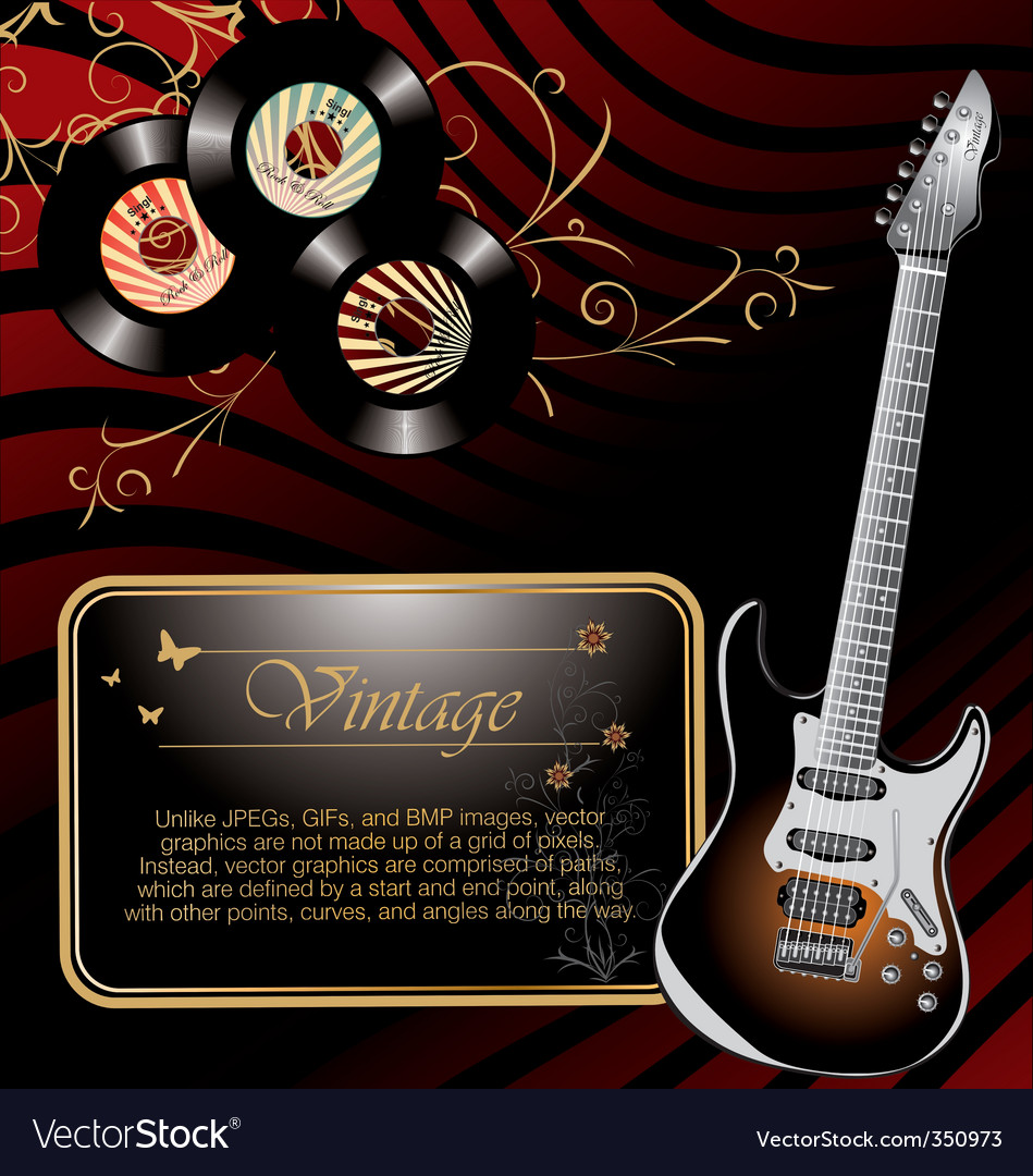 Retro rock music background vector