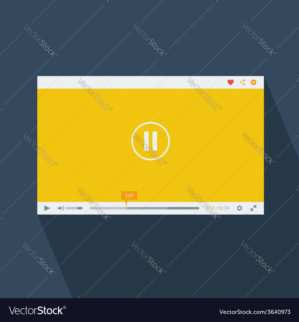 Video player template vector