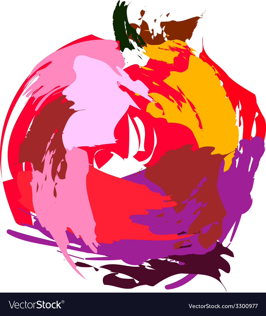 Drawing pomegranate vector