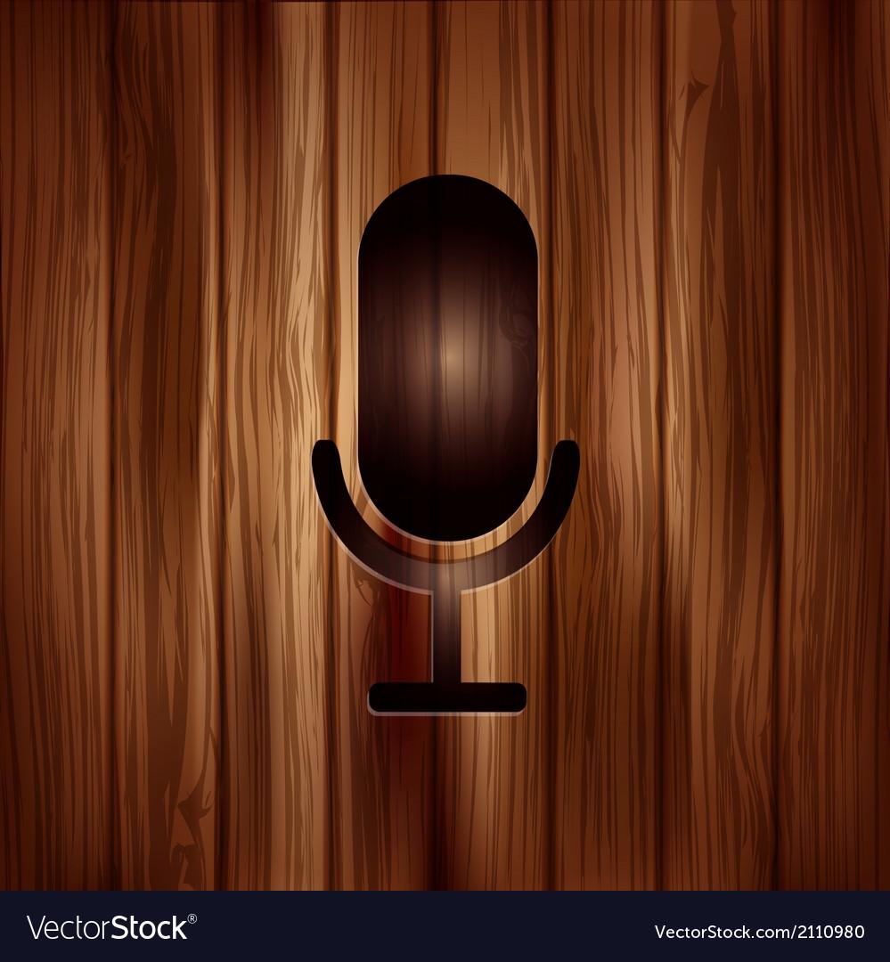 Microphone icon sound recording vector