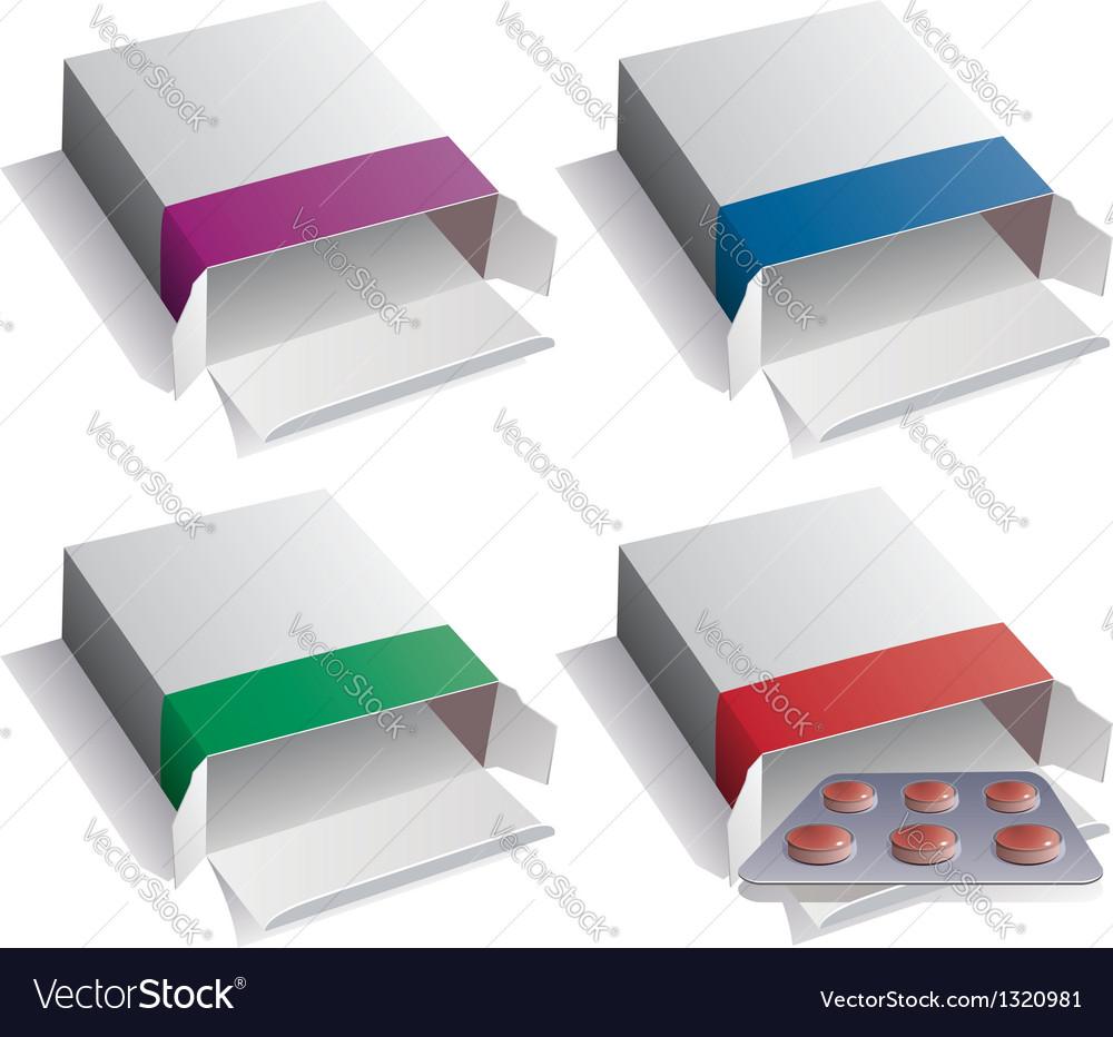 Pill packs vector