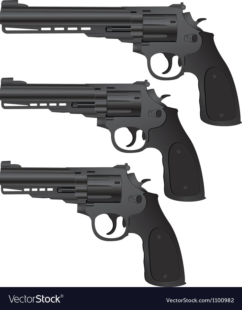 Set of pistols vector