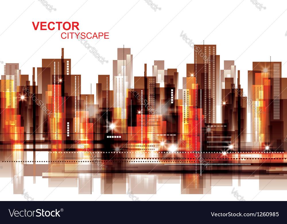 Modern cityscape background vector