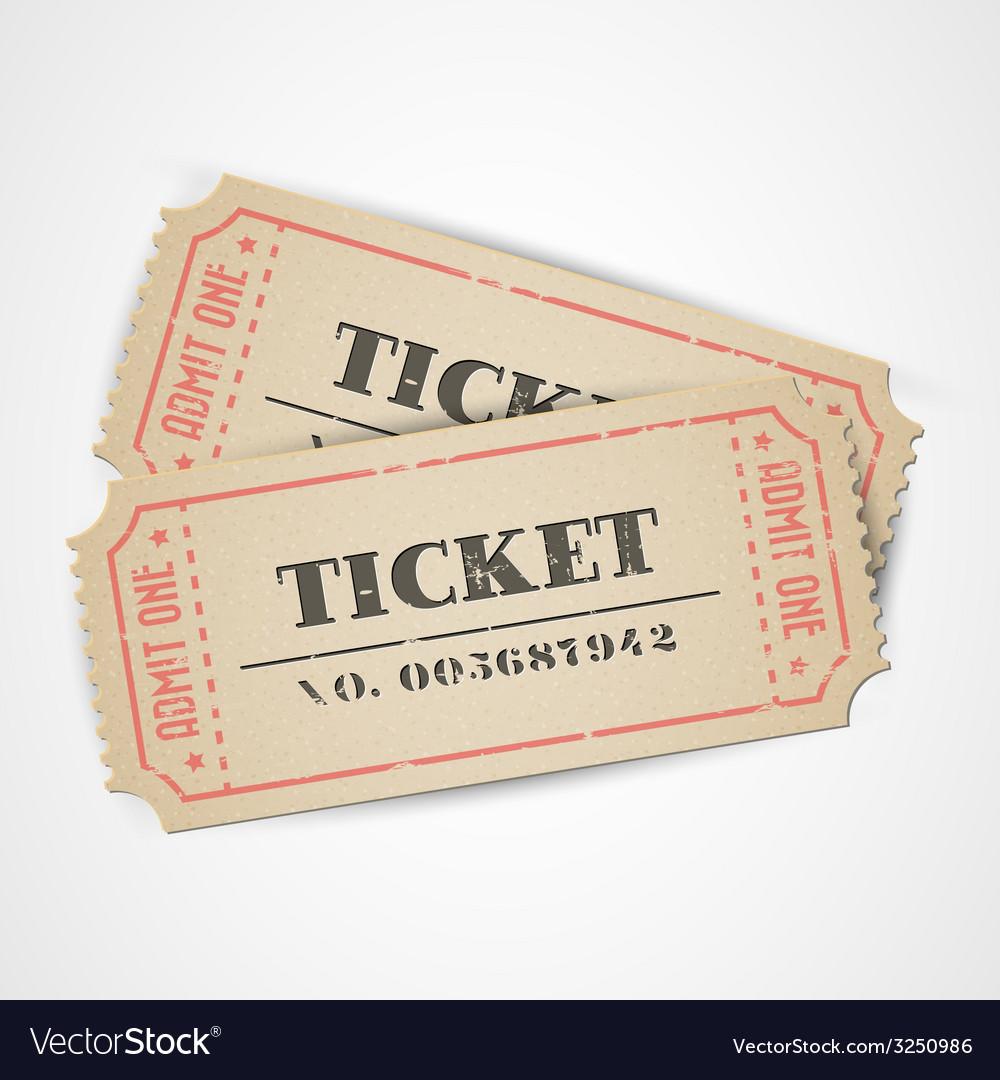 Vintage tickets vector