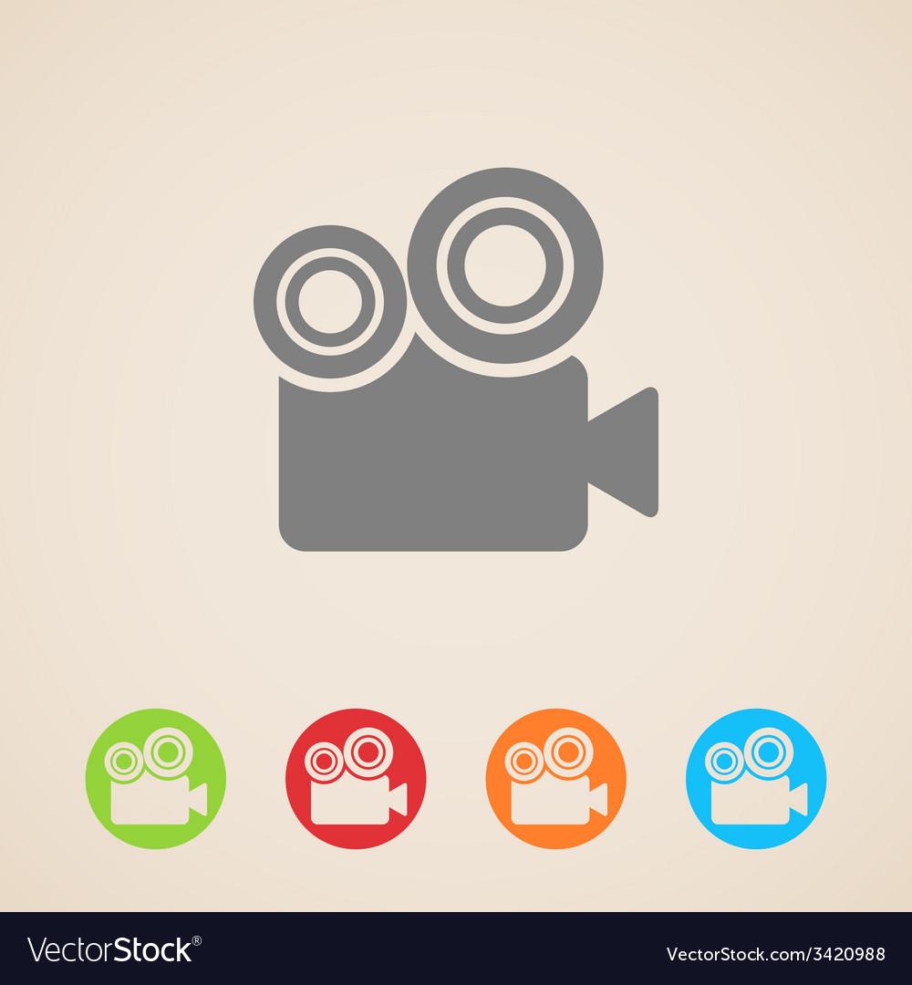 Movie camera icons vector
