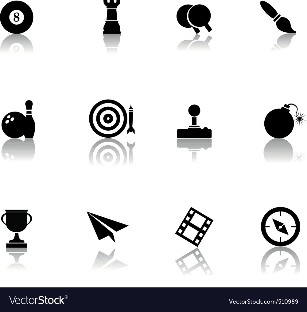 03 entertainment icons vector