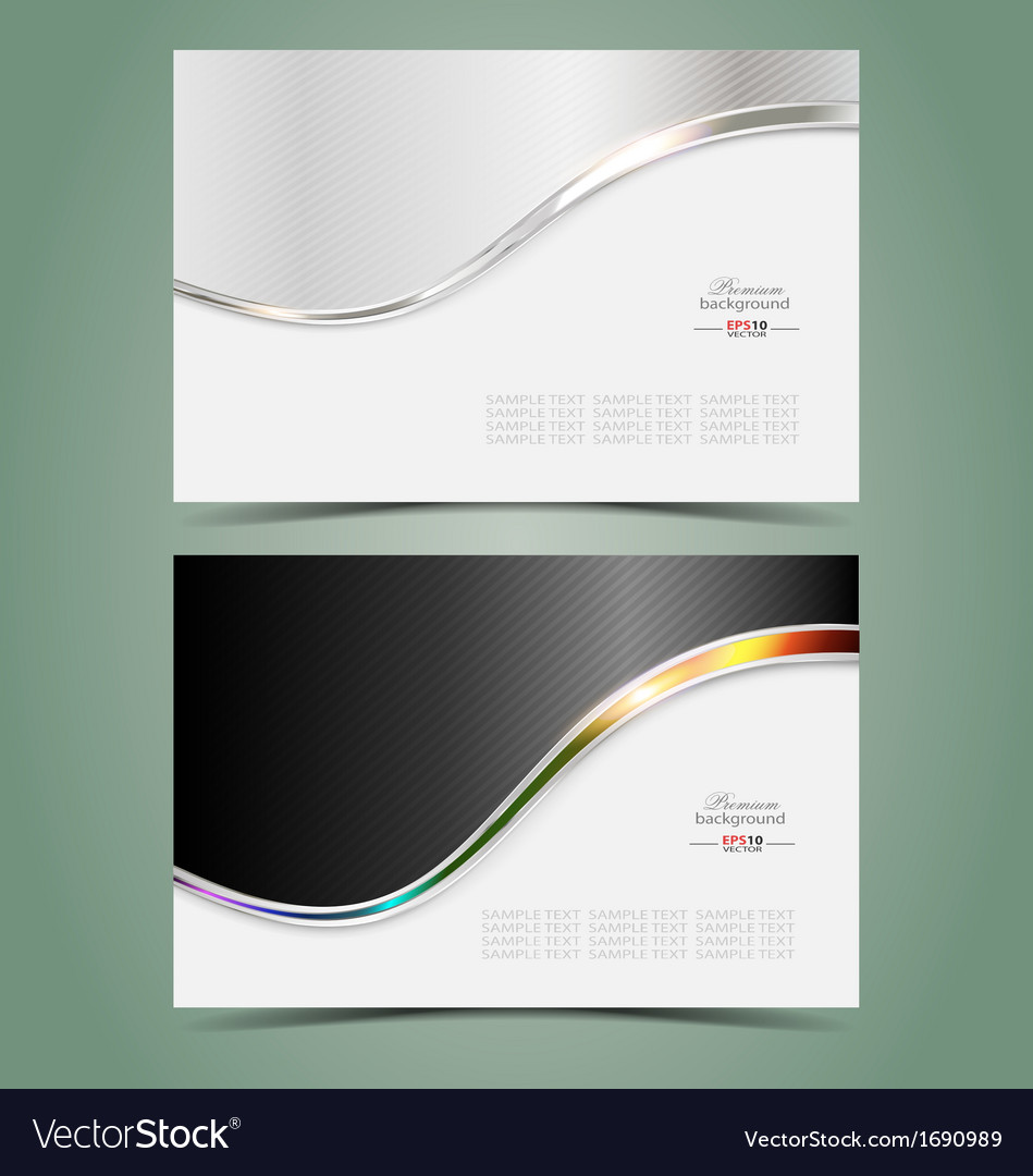 Elegant business card vector
