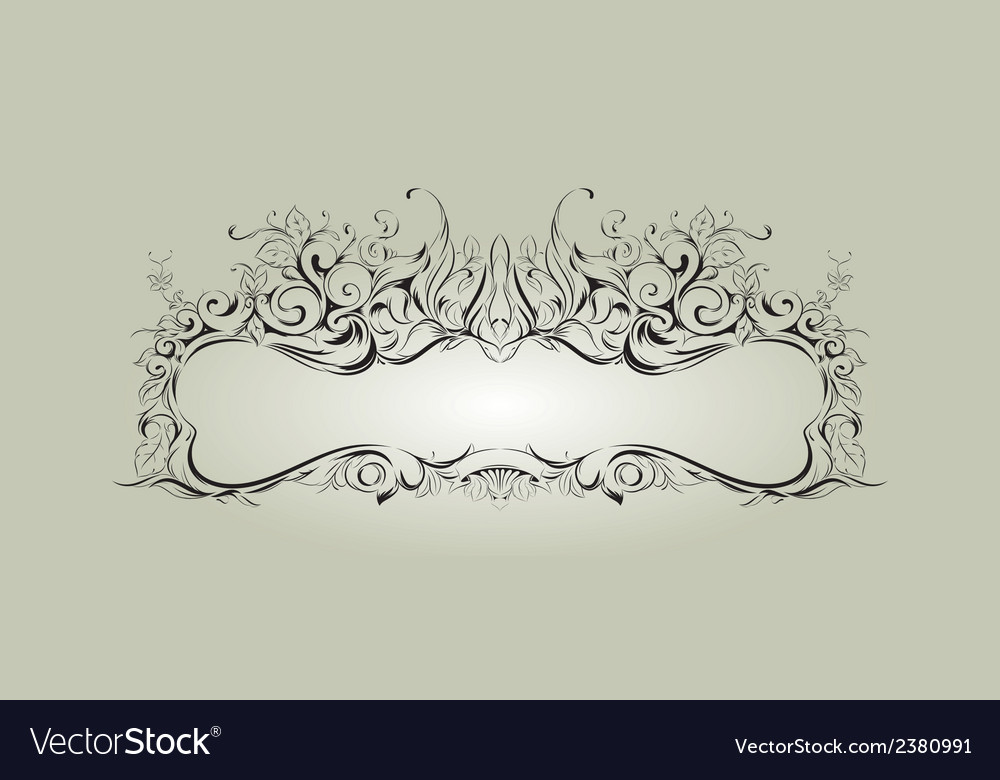Frame with floral elements for registration 2 vector