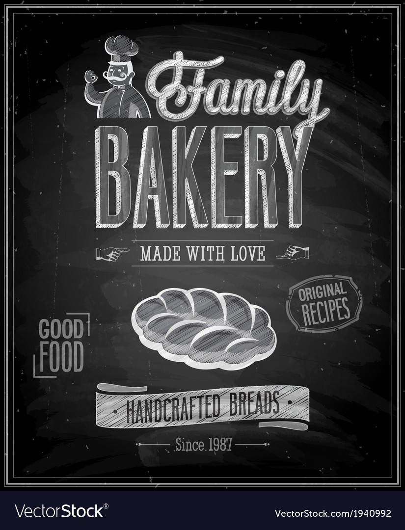Bakery chalk vector