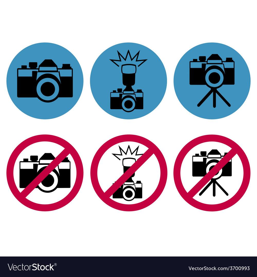 Camera round icons vector