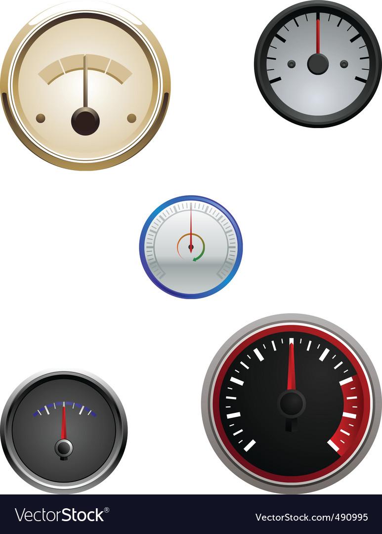 Speedometers icons vector