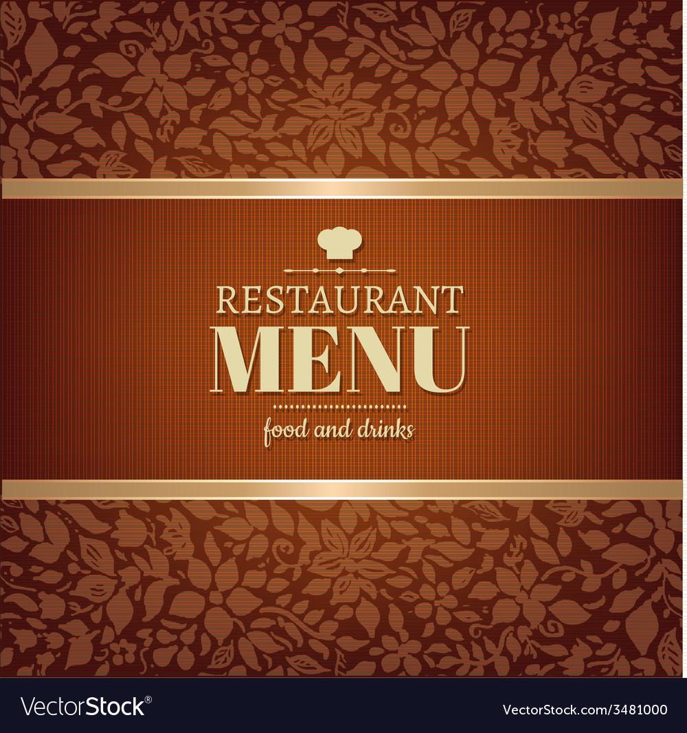 Cafe and restaurant menu vector