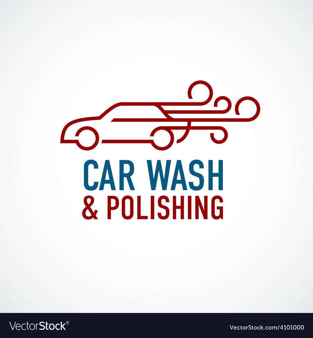 Car wash and polishing logo template vector