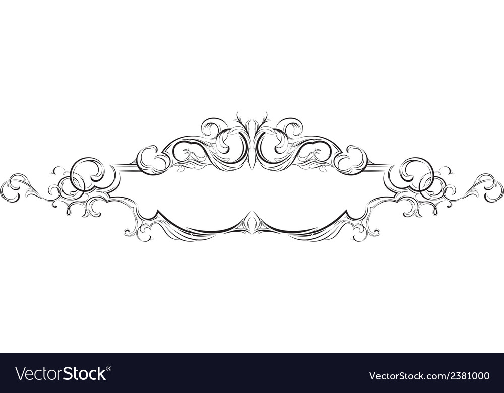 Frame with floral elements for registration 4 vector