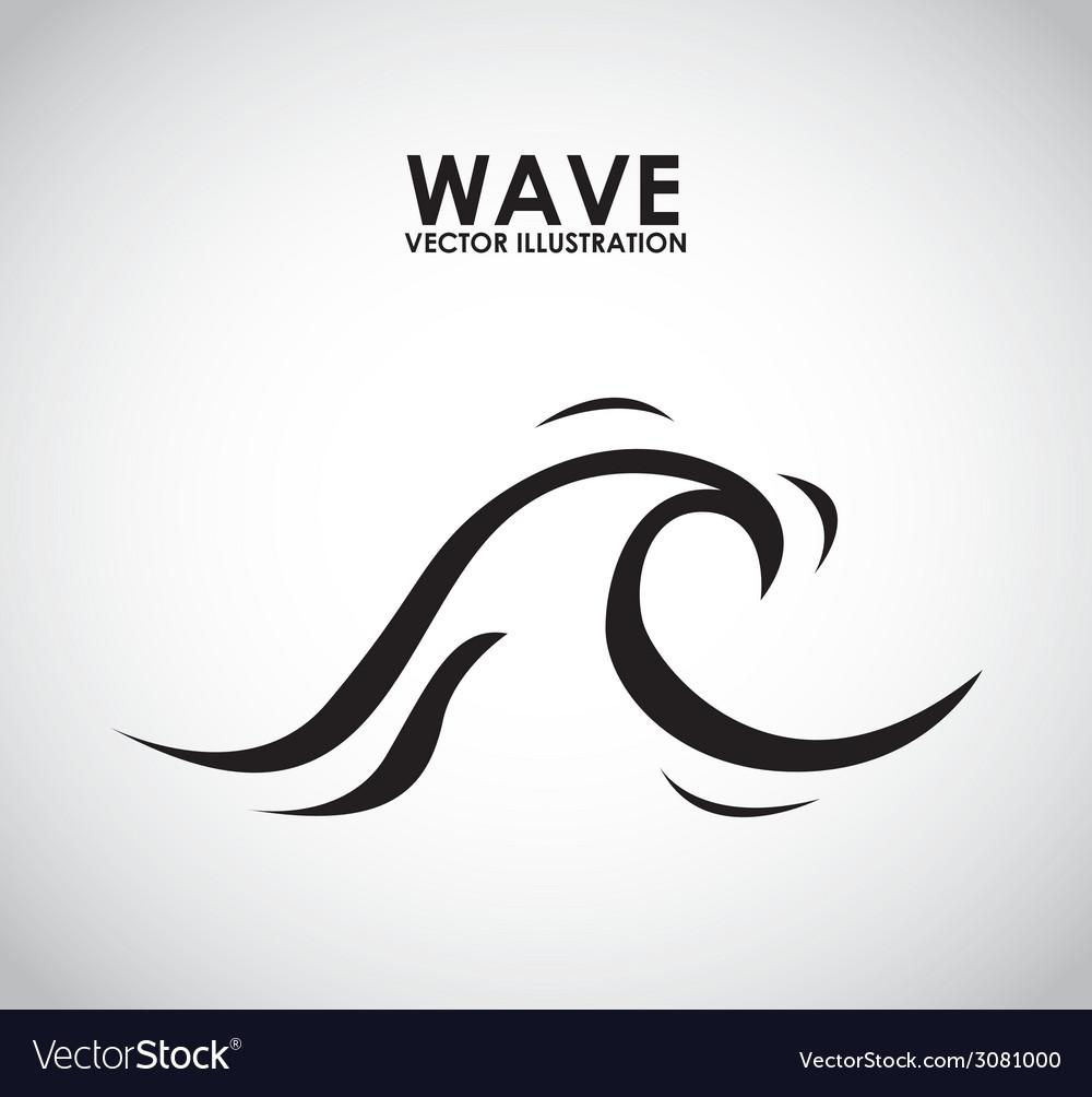 Wave design vector