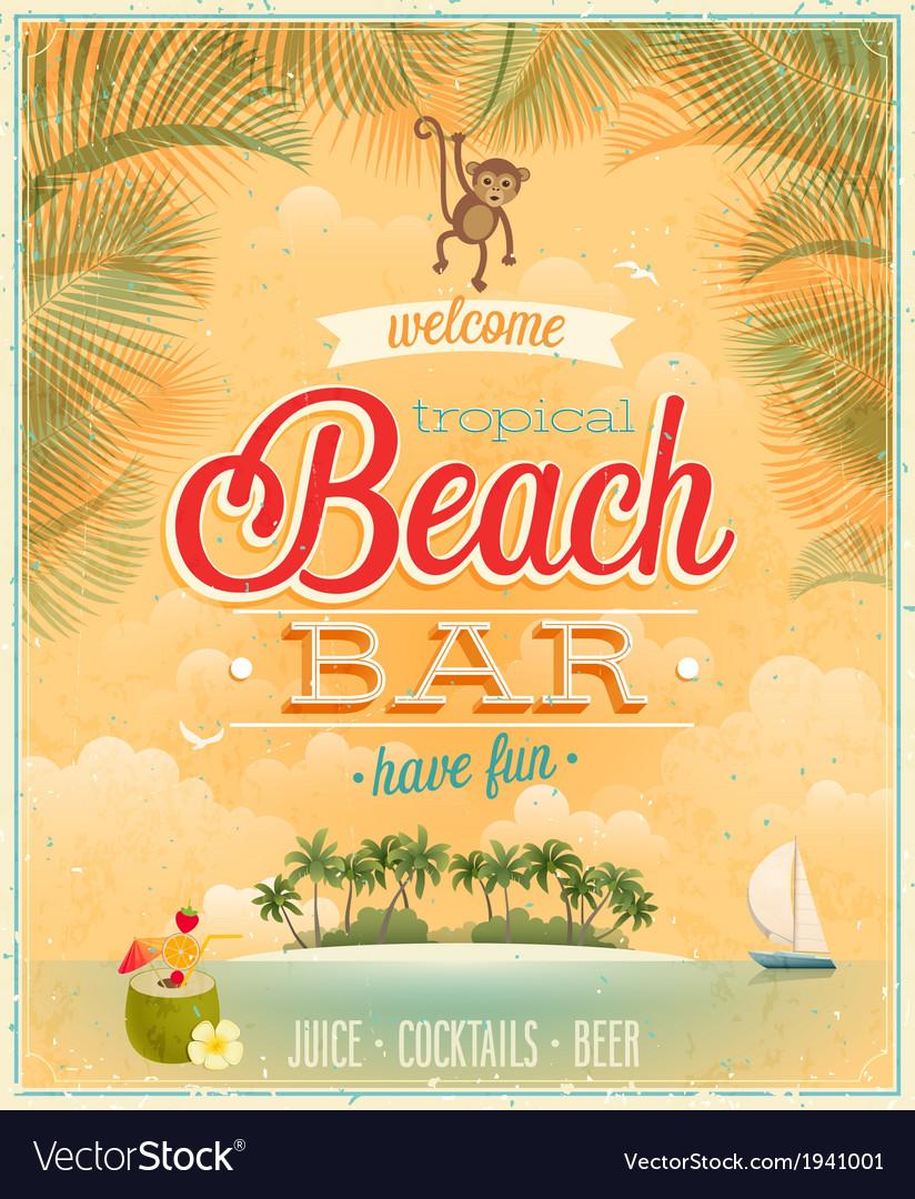 Beach bar2 vector