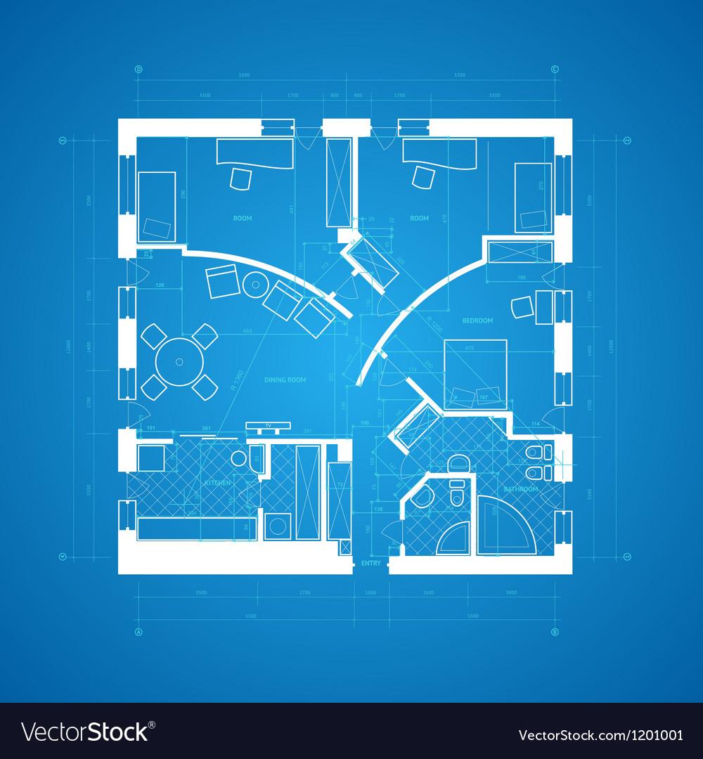 Blueprint abstract vector