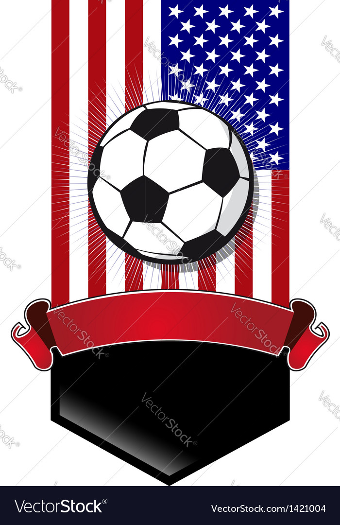 United states soccer championship banner vector