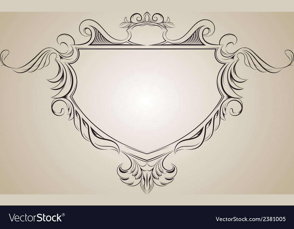 Frame with floral elements for registration vector