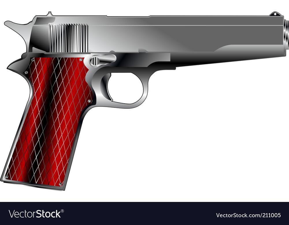 Small pistol vector