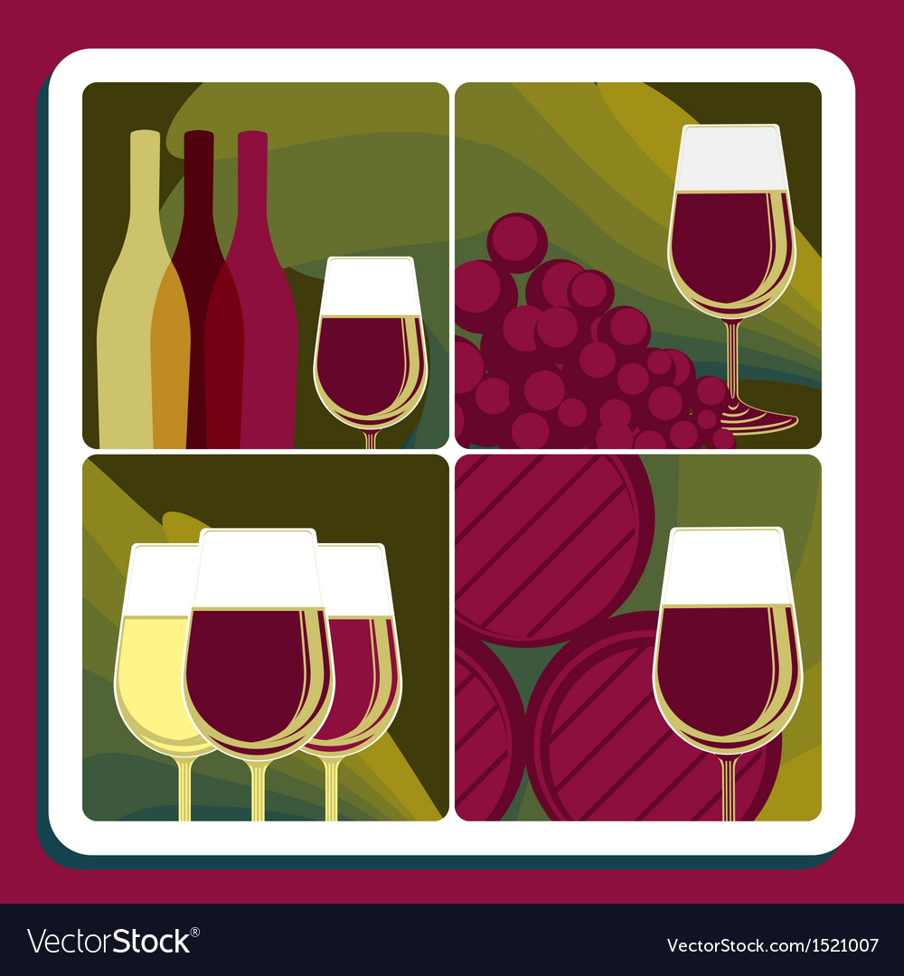 Wine production vector