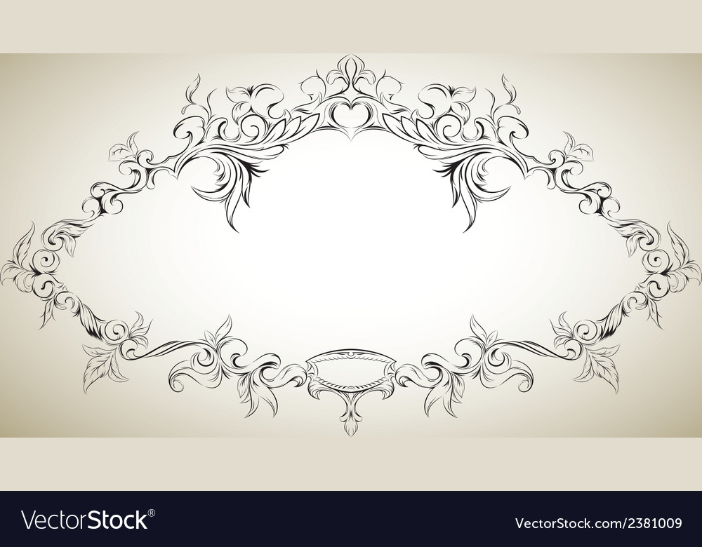 Frame with floral elements for registration 8 vector