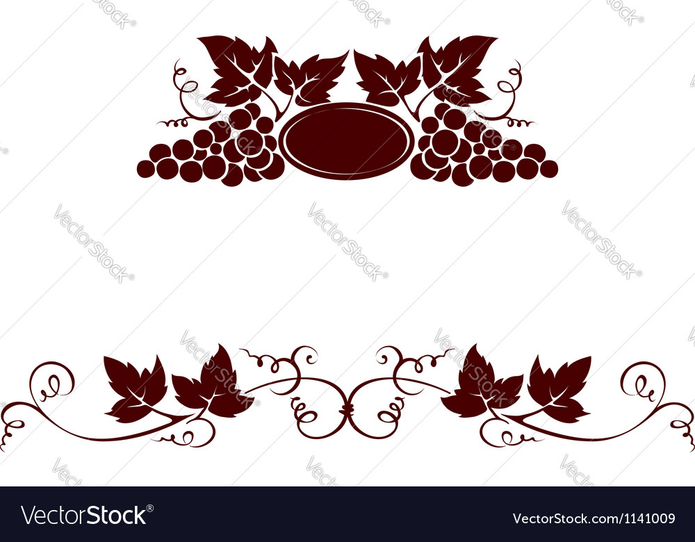Grape with stamp vector