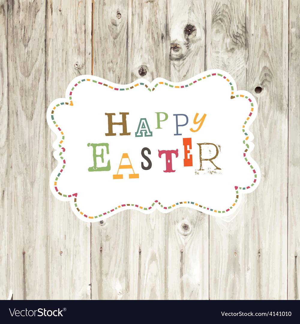 Easter card wooden backdrop vector