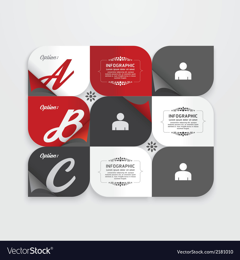 Infographic design modern vintage labels vector