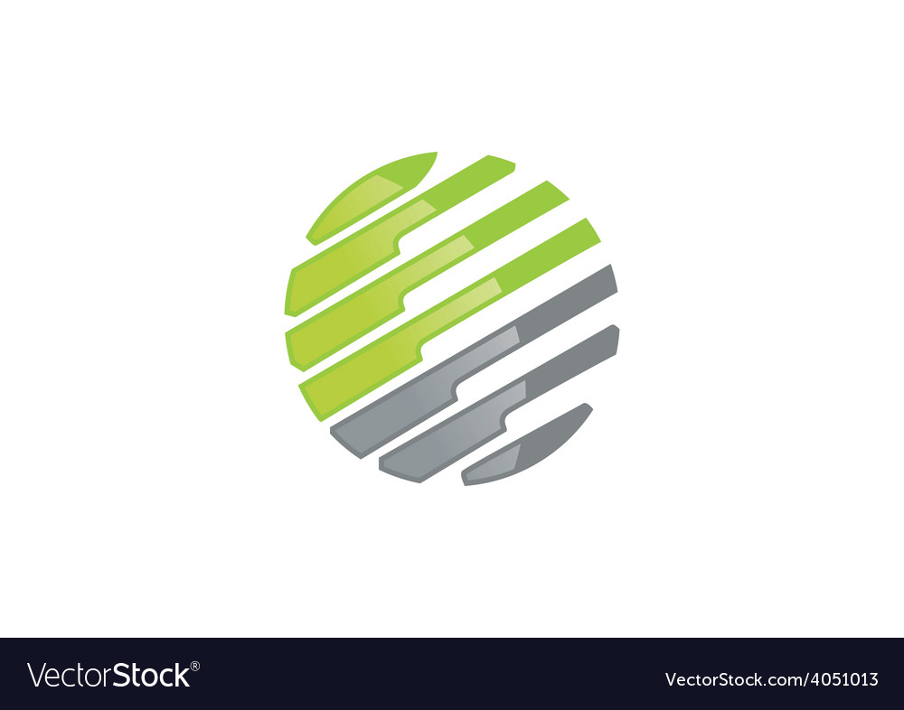 Business communication construction round lines vector