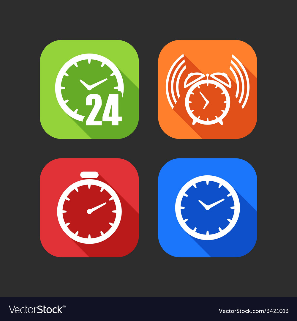 Flat icons for web and mobile applications with vector