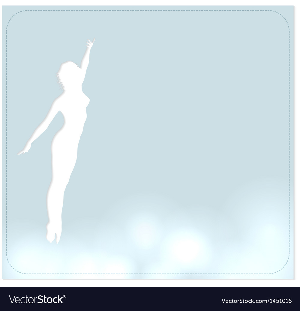 Background with a dancer vector