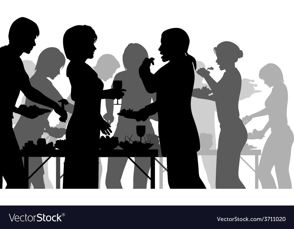Buffet meal vector