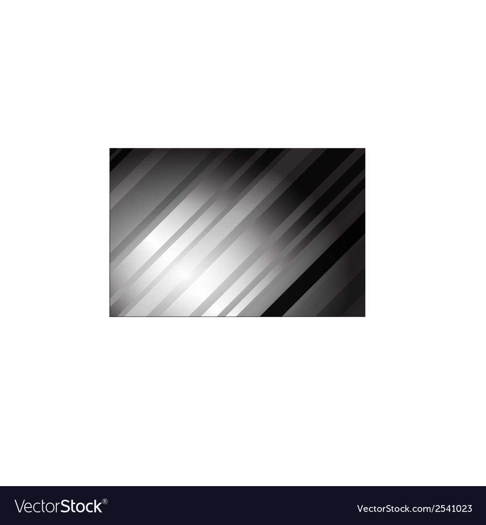 Abstract grey tech card with lighting effect vector